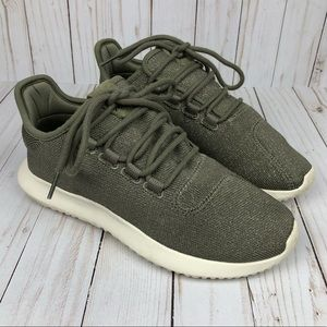 Adidas Tubular Green Metallic Sneakers